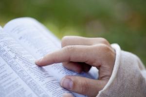 Bible w:Hand